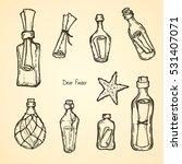 set of hand drawn illustrations ... | Shutterstock .eps vector #531407071