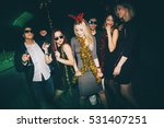 group of friends at club having ... | Shutterstock . vector #531407251