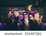 group of friends at club having ... | Shutterstock . vector #531407281