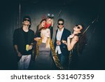 group of friends at club having ... | Shutterstock . vector #531407359