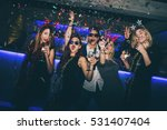 group of friends at club having ... | Shutterstock . vector #531407404