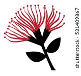pohutukawa flower | Shutterstock .eps vector #531409867