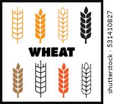 set of simple wheat ears icons... | Shutterstock .eps vector #531410827