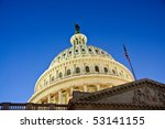 Stock photo the us capitol building in late twilight and horizontal perspective 53141155