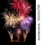 Gorgeous Fireworks On Black...