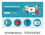 flat design of web header... | Shutterstock .eps vector #531414181