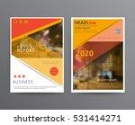business template for brochure  ... | Shutterstock .eps vector #531414271