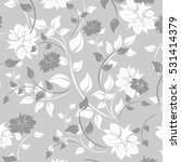 vector seamless pattern flowers ...   Shutterstock .eps vector #531414379