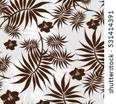 vector seamless pattern flowers ... | Shutterstock .eps vector #531414391
