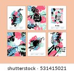 set of artistic creative cards... | Shutterstock .eps vector #531415021