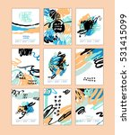 set of artistic creative cards... | Shutterstock .eps vector #531415099