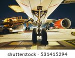 busy airport in the night.... | Shutterstock . vector #531415294