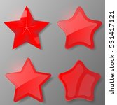 set of red stars. collection...