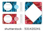 polygon business card gift...   Shutterstock .eps vector #531420241