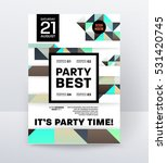 invitation disco party poster... | Shutterstock .eps vector #531420745