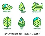 set of green leaf logo... | Shutterstock .eps vector #531421354