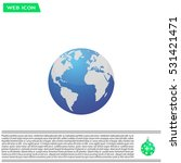 world globe vector illustration. | Shutterstock .eps vector #531421471