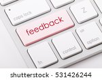 feedback word written on... | Shutterstock . vector #531426244