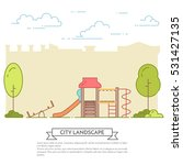 city landscape with playground... | Shutterstock .eps vector #531427135