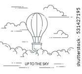 hot air balloon in the sky with ... | Shutterstock .eps vector #531427195