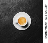 white cup of espresso coffee on ...   Shutterstock . vector #531428239