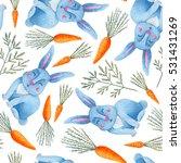 seamless watercolor pattern... | Shutterstock . vector #531431269