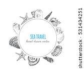 seashell hand drawn vector... | Shutterstock .eps vector #531434251