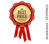 gold best price rosette   badge ... | Shutterstock .eps vector #531434611
