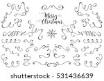 christmas elements. hand... | Shutterstock .eps vector #531436639