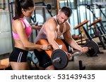 fitness couple exercising in... | Shutterstock . vector #531439435