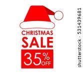 35  off sale. christmas sale... | Shutterstock .eps vector #531439681