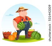 agrarian or agricultural farmer ... | Shutterstock .eps vector #531442009