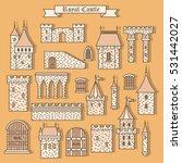 cartoon stone castle isolated... | Shutterstock .eps vector #531442027