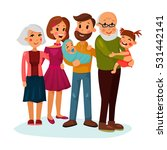happy family portrait logo with ... | Shutterstock .eps vector #531442141