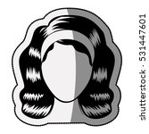 isolated woman head design   Shutterstock .eps vector #531447601