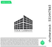 buildings icon for company | Shutterstock .eps vector #531447865