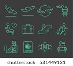 airport navigation thin icons... | Shutterstock .eps vector #531449131
