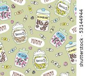 seamless sweets pattern in... | Shutterstock .eps vector #53144944