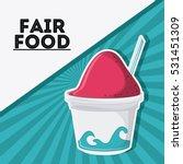 ice cream fair food snack...   Shutterstock .eps vector #531451309