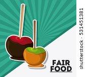 apple fair food snack carnival...   Shutterstock .eps vector #531451381