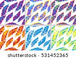 colorful bird feathers seamless ... | Shutterstock .eps vector #531452365