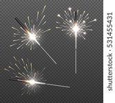 closeup isolated sparkler shine ...   Shutterstock .eps vector #531455431