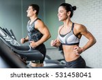 running in gym | Shutterstock . vector #531458041