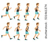 running athletic man in... | Shutterstock .eps vector #531461374