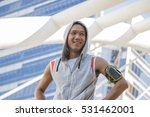 young  sport man warming up and ...   Shutterstock . vector #531462001