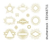 vintage circle sunburst line... | Shutterstock .eps vector #531463711