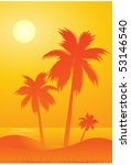 palm tree background | Shutterstock .eps vector #53146540