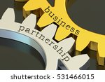 business partnership concept on ... | Shutterstock . vector #531466015