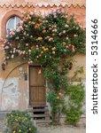 door with roses in saluzzo ... | Shutterstock . vector #5314666