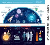 space infographics set with... | Shutterstock .eps vector #531468391